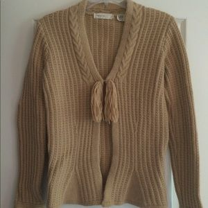 Anthropologie Sleeping on Snow camel cardigan S